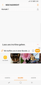 Samsung Galaxy S8 Plus - MMS - Erstellen und senden - 2 / 2