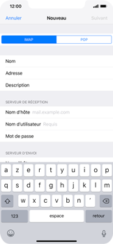 Apple iPhone XS Max - E-mail - Configuration manuelle - Étape 13