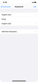 Apple iPhone XS - iOS 14 - Getting started - How to add a keyboard language - Step 8