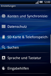 Sony Ericsson Xperia X8 - Fehlerbehebung - Handy zurücksetzen - Schritt 6