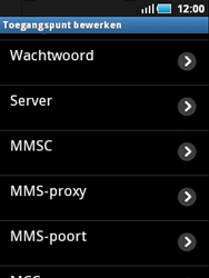 Samsung S5570 Galaxy Mini - MMS - Handmatig instellen - Stap 9