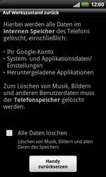 HTC X315e Sensation XL - Fehlerbehebung - Handy zurücksetzen - Schritt 8