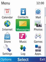 Nokia X2-00 - E-mail - Sending emails - Step 3