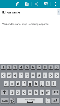 Samsung N910F Galaxy Note 4 - E-mail - E-mails verzenden - Stap 19