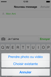 Apple iPhone 4 iOS 7 - MMS - envoi d