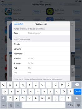 Apple iPad Air iOS 8 - Apps - Einrichten des App Stores - Schritt 22