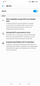 Huawei P Smart Plus - wifi - schakel Wi-Fi Assistentie uit - stap 8