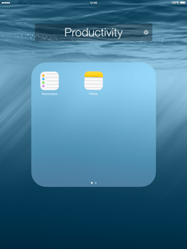 Apple iPad mini - iOS 8 - Getting started - Personalising your Start screen - Step 5