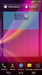 LG D955 G Flex - Operazioni iniziali - Installazione di widget e applicazioni nella schermata iniziale - Fase 6