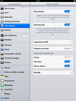 Apple iPad Retina - Internet e roaming dati - disattivazione del roaming dati - Fase 4