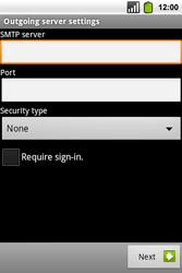 Alcatel OT-991 Smart - E-mail - Manual configuration - Step 16