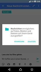 Sony Xperia X Performance - MMS - Erstellen und senden - 2 / 2