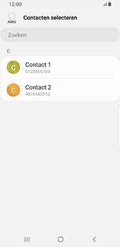Samsung galaxy-s8-sm-g950f-android-pie - Contacten en data - Contacten kopiëren van toestel naar SIM - Stap 9
