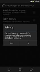 Sony Xperia Z - Internet und Datenroaming - Deaktivieren von Datenroaming - Schritt 7