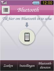 Samsung S7070 Diva - bluetooth - headset, carkit verbinding - stap 4