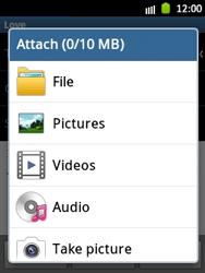 Samsung S5300 Galaxy Pocket - E-mail - Sending emails - Step 11