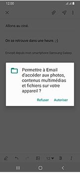Samsung Galaxy A40 - E-mail - envoyer un e-mail - Étape 13