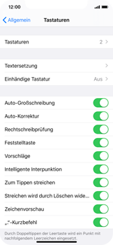 Apple iPhone 11 Pro - Startanleitung - So fügen Sie eine Tastatursprache hinzu - Schritt 5