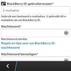 BlackBerry Q5 - Applicaties - Account aanmaken - Stap 9