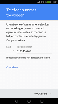 Huawei Mate S - Applicaties - Account aanmaken - Stap 12