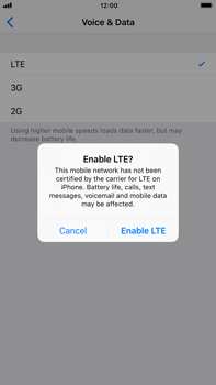 Apple iPhone 6 Plus - iOS 11 - Network - Enable 4G/LTE - Step 7