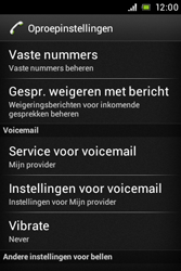 Sony ST23i Xperia Miro - Voicemail - handmatig instellen - Stap 5