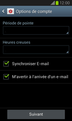 Samsung I8260 Galaxy Core - E-mail - Configuration manuelle - Étape 18