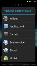 Sony Xperia J - Operazioni iniziali - Installazione di widget e applicazioni nella schermata iniziale - Fase 3