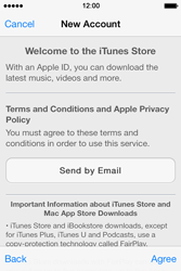 Apple iPhone 4S iOS 7 - Applications - setting up the application store - Step 10