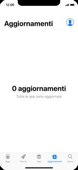 Apple iPhone X - Applicazioni - Come verificare la disponibilità di aggiornamenti per l