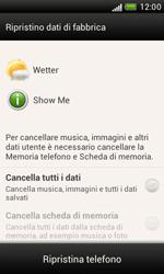 HTC Desire X - Dispositivo - Ripristino delle impostazioni originali - Fase 8