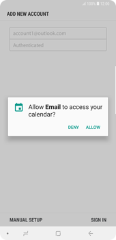 Samsung Galaxy Note9 - E-mail - 032c. Email wizard - Outlook - Step 11