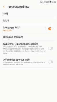 Samsung Galaxy J7 (2017) - SMS - Configuration manuelle - Étape 7
