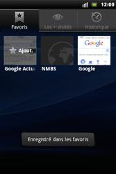 Sony Xperia Mini Pro - Internet - Navigation sur Internet - Étape 10