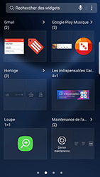 Samsung Galaxy S7 Edge - Android N - Prise en main - Installation de widgets et d