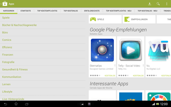 Sony Xperia Tablet Z LTE - Apps - Herunterladen - 6 / 21