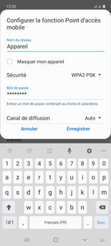 Samsung Galaxy A71 - Internet et connexion - Partager votre connexion en Wi-Fi - Étape 9