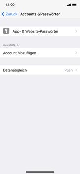Apple iPhone X - iOS 11 - Anmeldedaten hinzufügen/entfernen - 0 / 0