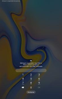 Samsung galaxy-tab-a-10-5-sm-t595-android-pie - Beveiliging en ouderlijk toezicht - PUK code invoeren - Stap 2