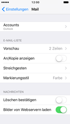 Apple iPhone SE - E-Mail - Konto einrichten (outlook) - 10 / 12