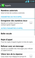 LG E460 Optimus L5 II - Messagerie vocale - Configuration manuelle - Étape 5