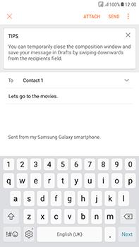 Samsung Galaxy J7 (2017) - E-mail - Sending emails - Step 10