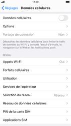 Apple iPhone 8 - iOS 13 - Internet et roaming de données - Comment vérifier que la connexion des données est activée - Étape 4