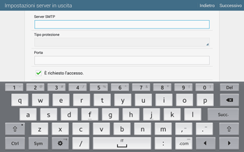Samsung T805 Galaxy Tab S - E-mail - configurazione manuale - Fase 12