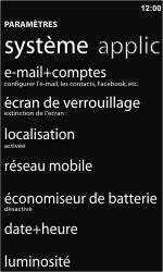 Nokia Lumia 610 - E-mail - Configurer l