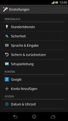 Sony Xperia V - Gerät - Zurücksetzen auf die Werkseinstellungen - Schritt 4