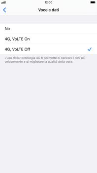 Apple iPhone 8 Plus - iOS 13 - Rete - Come attivare la connessione di rete 4G - Fase 6