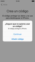 Apple iPhone SE iOS 10 - Primeros pasos - Activar el equipo - Paso 13