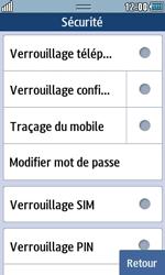 Samsung Wave 723 - Sécuriser votre mobile - Personnaliser le code PIN de votre carte SIM - Étape 5