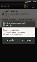HTC Desire X - Bluetooth - Collegamento dei dispositivi - Fase 8